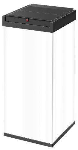 Hailo 0880-901 Poubelle, Acier Inoxydable, Blanc, 35 x 34 x 77 cm