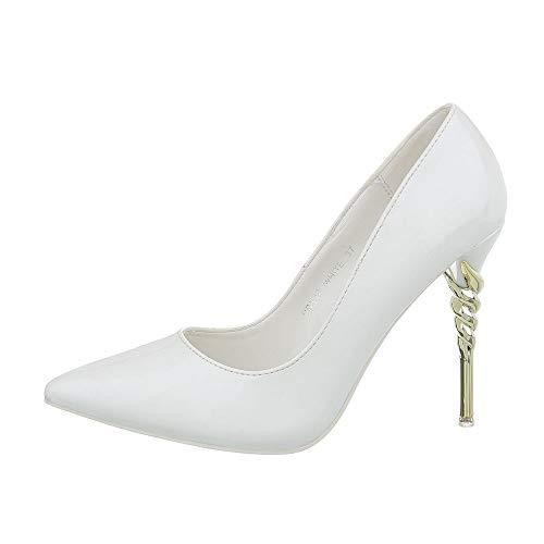 Ital-Design Damenschuhe Pumps High Heel Pumps Synthetik Weiß Gr. 36 -
