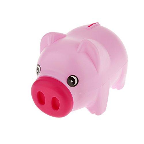 Generic Kunststoff-Schwein Geldmünze Geldkasten 19 x 10 x 12 cm Kinder Geld Sparen - Rosa