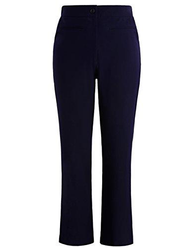 Chicwe Damen Große Größen Arbeit Hose Trousers Curvy Fit Bootcut 54, Marine Blau (Easy Fit Flare Jeans)