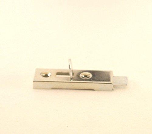 Schrankriegel Möbelriegel Riegel für Schranktüren Schubriegel messing und vernickelt (vernickelt grade ohne Gegegnstück, 1 Stück) (Grad 1 Riegel)