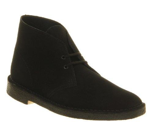 Clarks ,  Herren Desert Boots schwarze Velourslederoptik