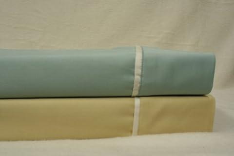 Alissa Collection - 300 fils/cm² Lit King size en coton Bleu sarcelle