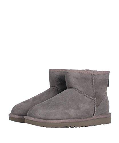 Ugg W Classic Mini Grey Boots - Stivaletti Da Donna Grigi Camoscio Grey