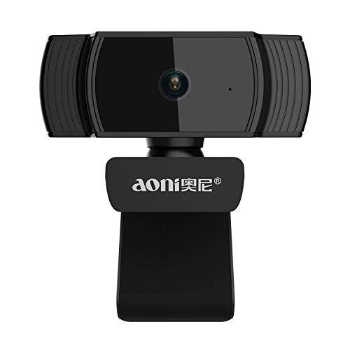 Covvy Webcam Full HD 1080P,Auto Focus USB Live Streaming Camera con Microfono a cancellazione di Rumore per riunioni,Skype,Youtube Chat e Registrazione Video di Facebook,Compatibile