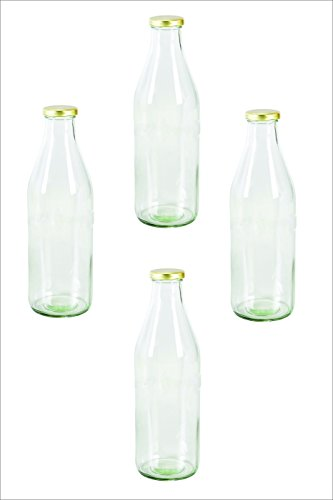 Pure Source India Milk, Water And Juice Glass Bottle With...