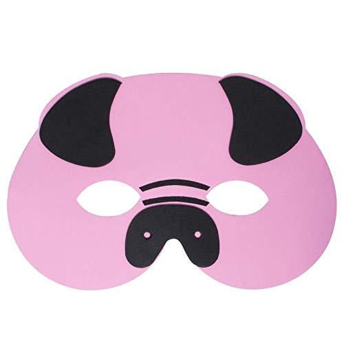 Werbewas 1x Schaumstoff Masken mit Schwein Tiermotiv - als Karnevals, Halloween, Geburtstags-Party Kostüm