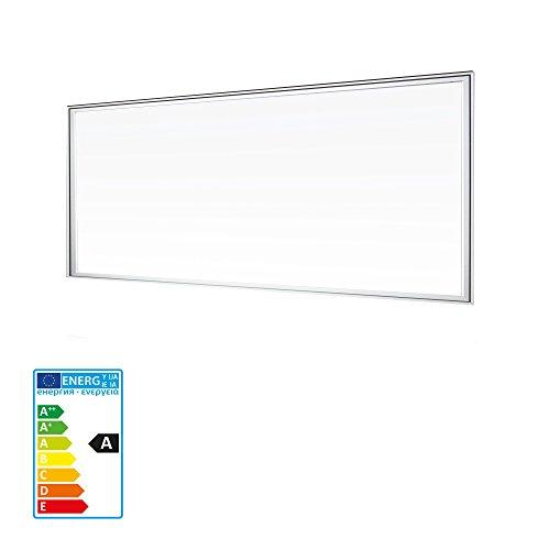 Standard Einbauleuchte Panel (LEDVero 1er Set 120x60cm Ultraslim LED Panel 60W, 5700lm, 4500K Deckenleuchte mit Befestigungsclips und EMV2016 Trafo -Neutralweiß- Energieklasse A+)