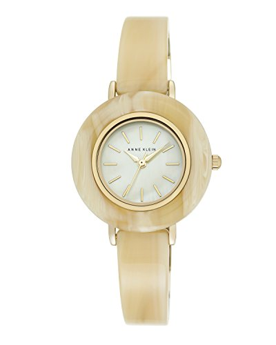 anne-klein-womens-olivia-quartz-watch-with-mother-of-pearl-dial-analogue-display-and-cream-plastic-b