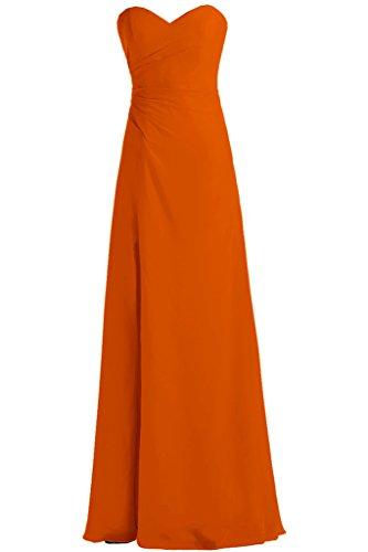 Toscana sposa dall'effetto Rueckenfrei Chiffon sera a forma di cuore per abiti da sposa giovane lontano un'ampia Party ball vestimento Orange
