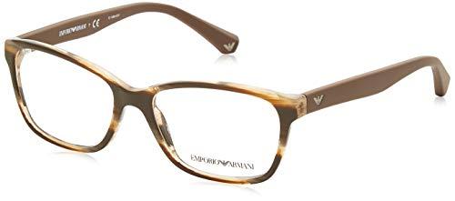 Ray-Ban Damen 0EA3060 Brillengestelle, Braun (Striped Brown), 52