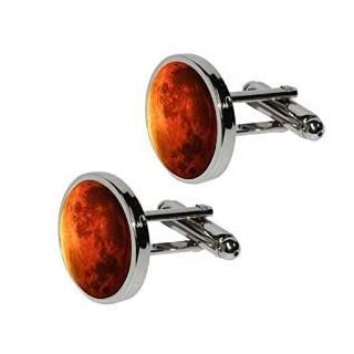 Planet Mars Cufflinks Men's Space Astronomy