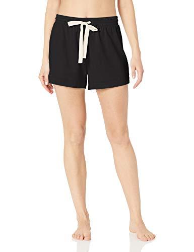 Amazon Essentials Women's Lounge Terry Short Sleepwear, Black, Medium
