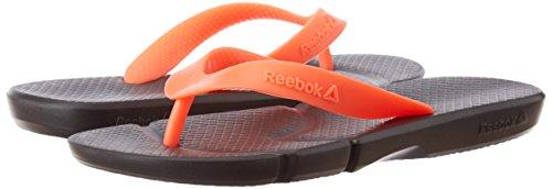 2d4db085f3f4e ... Reebok Men s Fresco Flip Black and Neon Cherry Flip-Flops and House  Slippers - 4 ...