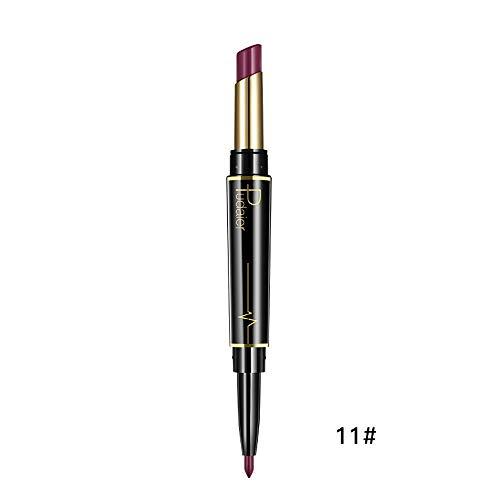 Innerternet Set De CosméTiques De Maquillage De Longue DuréE ImperméAble Crayon-Crayon à LèVres éTanche Double Boutonnage Lipliner ImperméAble 16 Couleurs (K)