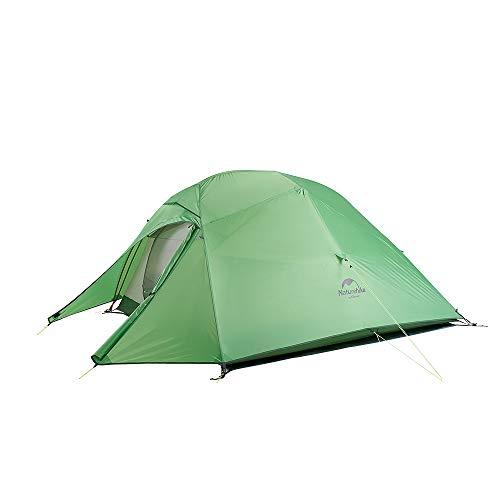 Naturehike Neu Cloud-up 3 Upgrade Ultraleichte Zelte 3 Personen Zelt 3-4 Saison für Camping Wandern (210T Grün Upgrade)
