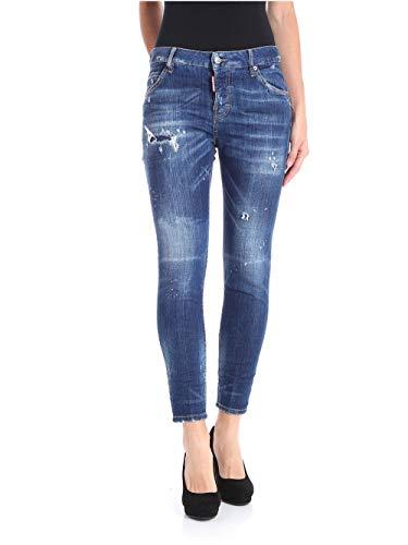 dsquared damen jeans DSQUARED S72LB0116 Blue Size:44