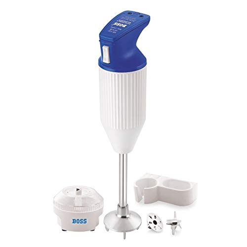 Boss E112 160-Watt Portable Hand Blender with Chutney (Blue-White)