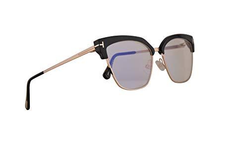 Tom Ford FT5547B Brille 54-15-140 Schwarz glänzend mit Demo Klarglas 001 FT 5547B TF 5547-B TF5547-B