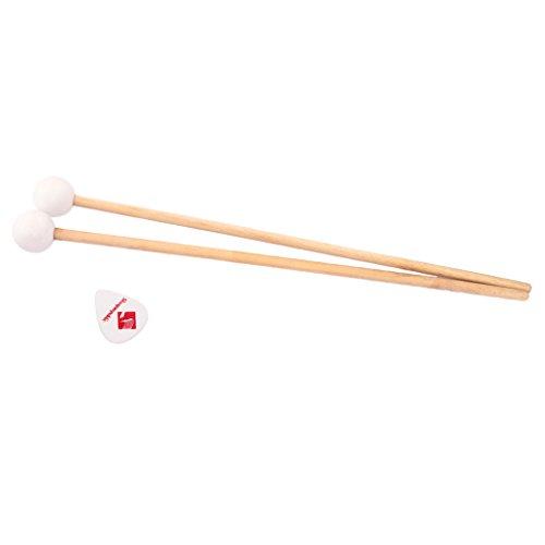 Gazechimp Holz Schlägel mit Gummikopf, Kugelschläger Klangstäbe für Xylophone