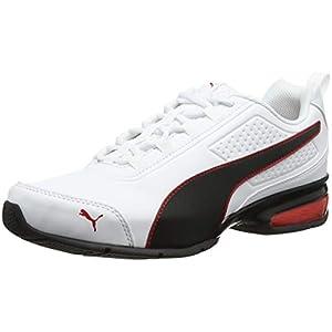 PUMA Unisex Adults' Leader VT SL Running Shoes, White Black-Flame Scarlet, 11 UK