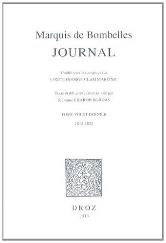 Journal : Tome 8 et dernier, 1815-1822