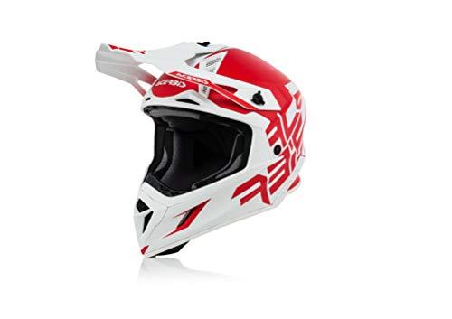 Acerbis casco x-pro vtr rosso/bianco l