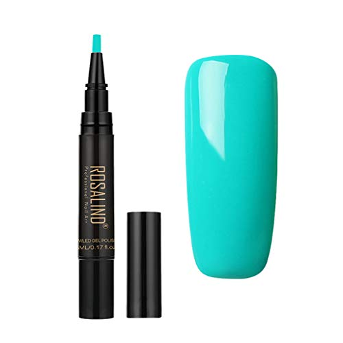 VANMO Nail Art Nagellack Stift,Mädchen Nagellack-Pens Einen Schritt UV/LED-Gel-Nagellack-Stift Ohne Basislack und Decklack Müssen 5ML (Uv-ofen)