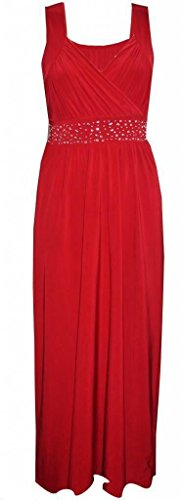 Sugerdiva - Robe - Crayon - Femme Noir noir 23-46 Rouge