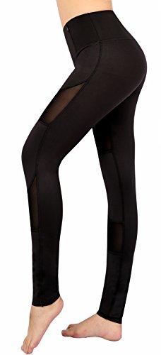 Munvot® Tech Mesh Damen Hohe Taille Sport Leggings - TUMMY CONTROL - Sporthosen Super für Fitness, Joggen, Yoga etc. -