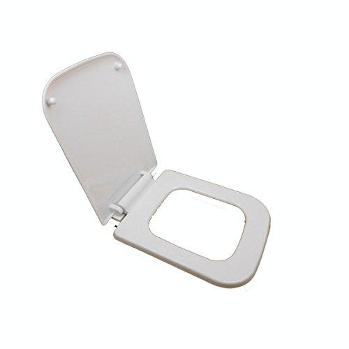 FOKN Pure Pp Roh Rechteckig Gepolsterte Stumme Toilettensitz / Eckig Toilettendeckel / Toilettensitzabdeckung,A-44cm*34.5cm -