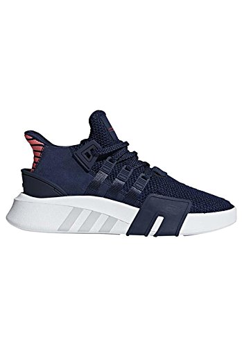 adidas Herren EQT Bask ADV Hohe Sneaker, Blau (Collegiate Navy/Real Coral), 44 EU (Basketball Schuhe, Sneaker Männer)
