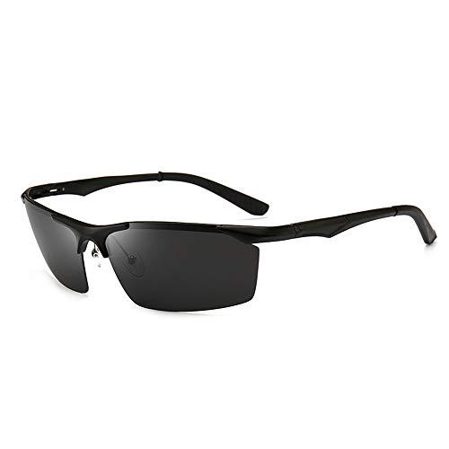 Sonnenbrillen Mode Herren Retro Fahren Polarisierte Sonnenbrille Übergroße reflektierende Polarisator Sonnenbrille Uv Aluminium-Magnesium Vollformat-Sonnenbrille ( Farbe : C2 , Größe : Free )