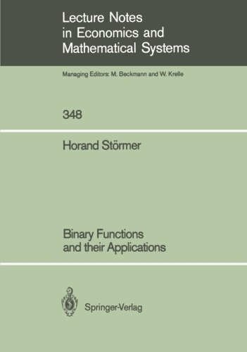 Binary Functions and their Applications (Lecture Notes in Economics and Mathematical Systems Book 348) (English Edition)