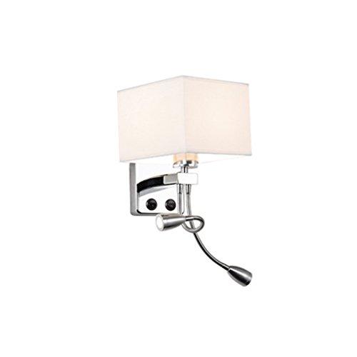 MEILING Lire Creative Cloth Modern Minimalist Living Room Chambre à coucher Balcon de l'hôtel Hallway Wall Lamp Lampe de chevet LED avec interrupteur ( Couleur : Blanc )