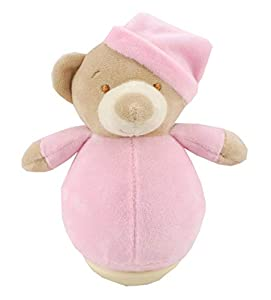 Duffi Baby- Peluche Balanceo Osito, 100% Poliéster, Color Rosa (Master Baby Home, S.L. 0757-06)