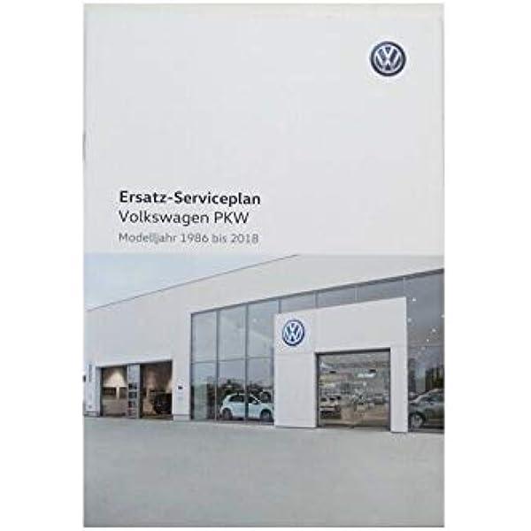 Volkswagen Original Vw Serviceplan Serviceheft Scheckheft Für Pkw Auto