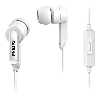 (CERTIFIED REFURBISHED) Philips SHE1405WT/94 In-Ear Headphones with Mic (White)