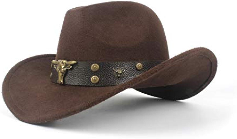 ZLFZZZ Cappello da Cowboy Western da Uomo Cappello Cowboy da Cowboy  Cappello Occidentale da Uomo Cappello da Cowboy (Coloreee ... Parent b6b5f1 7db5f887a82a