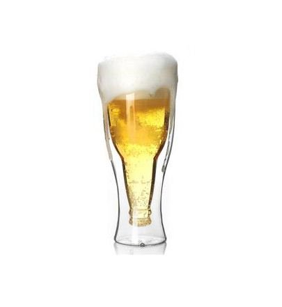 Creative 350ml Double wall Beer Glass Cup Heat-resistant Freeze Ice Safe Beer Steins