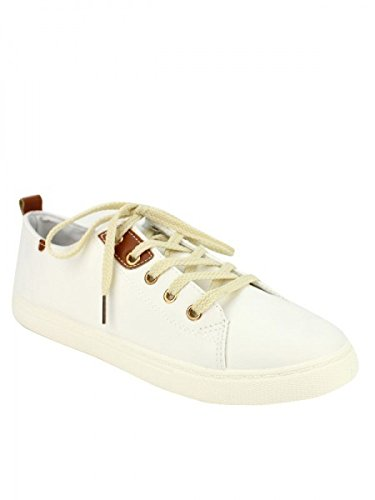 Cendriyon, Baskets Blanches STANKA Mode Chaussures Femme Blanc