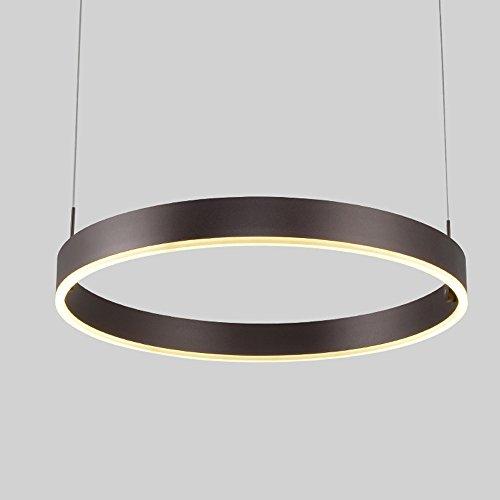 Wanson European Kronleuchter Schlafzimmer Restaurant Pendelleuchte LED Lampe Ring Pendelleuchte Aluminiumlegierung Kreativ Leuchten Durchmesser 40Cm Braun Hotel Deckenlampe
