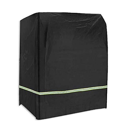 Rich-home Gartenmöbel Abdeckung Outdoor Staubschutz Abdeckung 210D Oxford Tuch Wohnmöbel Schutzhülle für Strandkorb Schaukelstuhl UV-Schutz, Wasserdicht und Winddicht Schwarz 135 X105 X175 cm