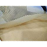 K G group Trendz Handpicked Cancan Net Fabric (3 m, Biscuit)