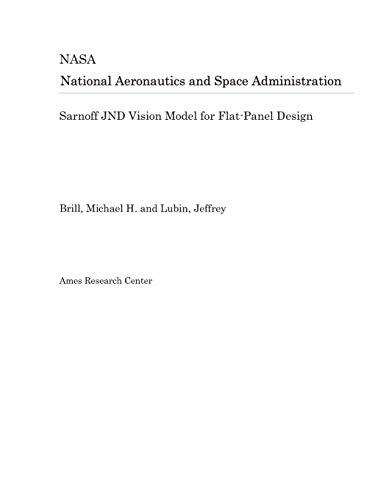 Sarnoff JND Vision Model for Flat-Panel Design Vision Flat Panel