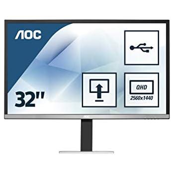 """AOC Q3277FQE 32/"""" QHD 2560x1440 LED-Backlit LCD Monitor 10 bit High Definition Ne"""