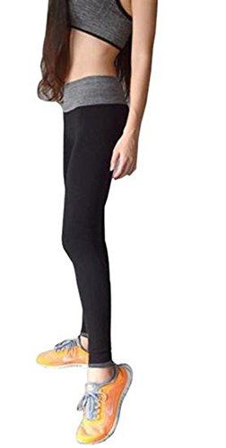Fami Leggings pour femmes Running Yoga Sports Fitness Gym Stretch Pantalons Pantalons Noir