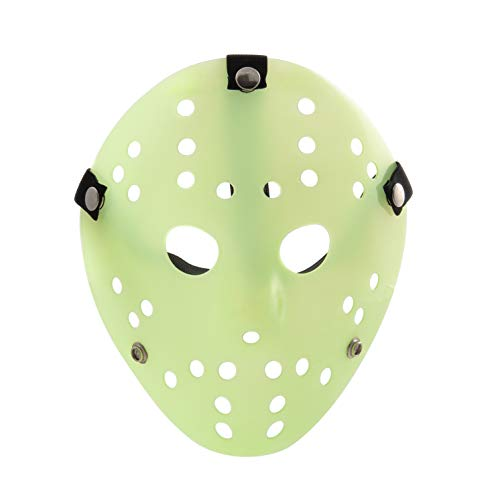 (Extrem Glühen in der dunklen Fancy Dress Jason X vS Freddy Halloween Freitag der 13. Hockey-Masken in ein Leuchten in die dunkle Farbe Farben Erwachsene PVC hochwertige Profi-Maske mit elastischem Klettband Fancy Gesicht Maske Halloween-Costumeplay)