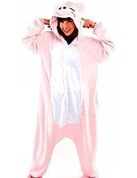 Samgu-Cochon animal Pyjama Cospaly Party Fleece Costume Deguisement Adulte Unisexe
