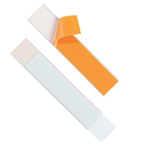 Durable 804019 Schilderrahmen Labelfix (mit Blanko-Einsteckschild, 200 x 40 mm) 5 Stück, transparent